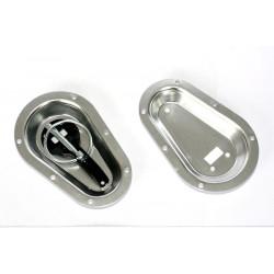 Bonnet plates zilver