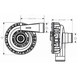 EWP 115 Aluminium electrische waterpomp
