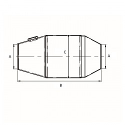 REDBACK FIA race katalysator Ø 76.2 / 101 mm