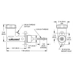 Hoofdremcilinder integraal 0.75