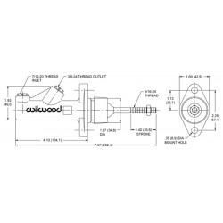Hoofdremcilinder  non integraal 0.70