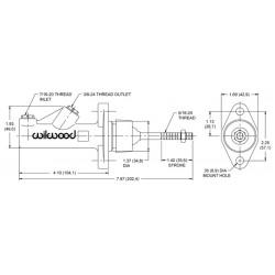 Hoofdremcilinder non integraal 0.75